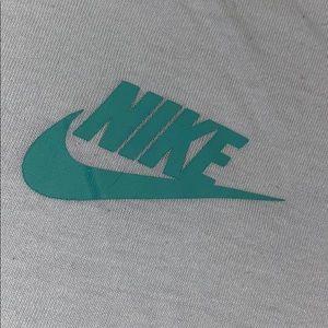nike light blue-green t shirt